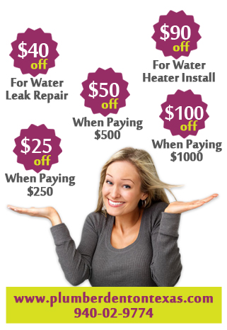 Plumber Denton Texas Fix Water Heater Leak Drain Repair